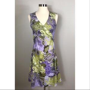 Prana Sleeveless Faux Wrap Dress Size Medium
